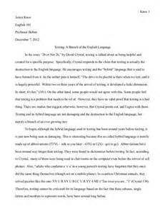 Essay About Language by Essay 2 Texting A Branch Of The Language