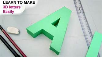 How To Make 3d On Paper - learn to make 3d letters from paper letter a