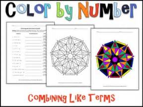 color terms color by number bundle 1 10 algebra skills by
