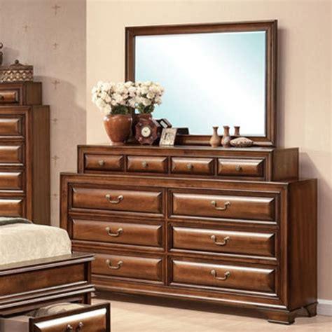 Mirror Finish Dresser by Dreamfurniture Konance Brown Cherry Finish Dresser