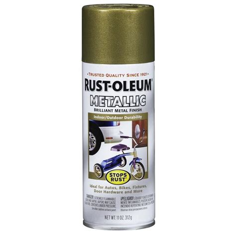 shop rust oleum stops rust burnished brass metallic enamel