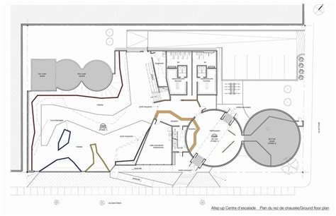 Home Floor Plan Drawing allez up rock climbing gym smith vigeant architectes
