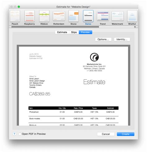manage estimates on your mac iphone and ipad marketcircle