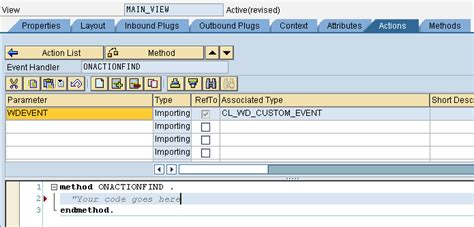 sap abap webdynpro tutorial abap web dynpro button click action