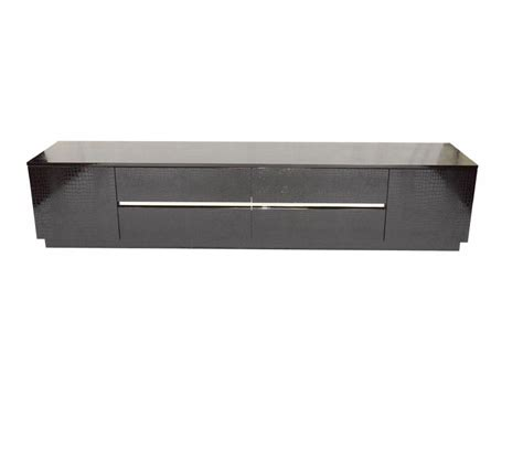 dreamfurniture modern black crocodile lacquer tv