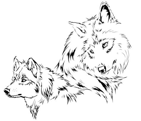 two wolves tattoo wolf tattoos