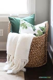 25 best ideas about blanket basket on blanket