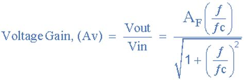 high pass filter equation for gain active high pass filter op high pass filter