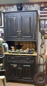Dining Room China Hutch black distressed hutch made by wayne avery country