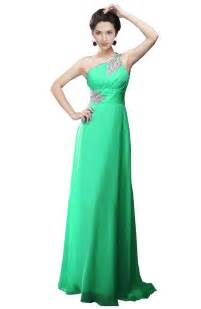 fashion trends unique one shoulder long prom formal gowns