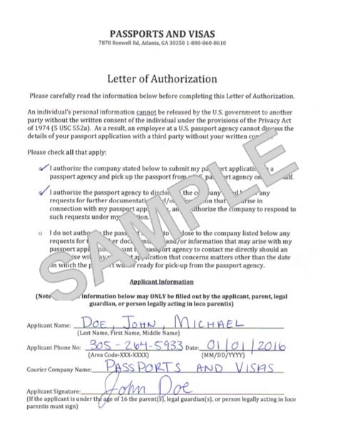 Authorization Letter To Get Passport authorization letter to up best photos of parent