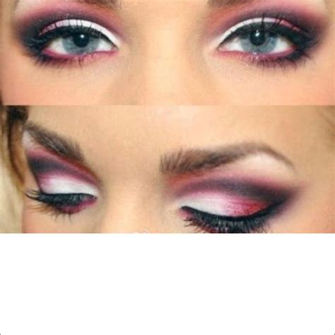 Eyeshadow Pink eye makeup for blue for my pink and white dress