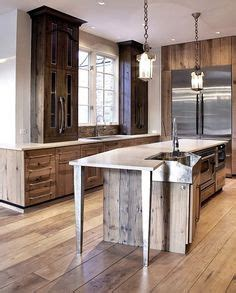 burleson home furnishings barnwood kitchen island real 1000 images about reclaimed wood kitchen cabinets on