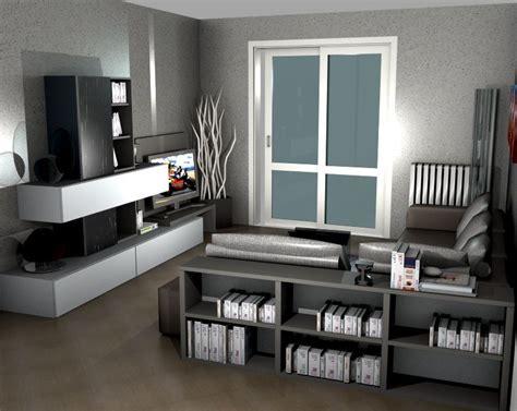 salotto con libreria salotto con divano e mini libreria sermobil living