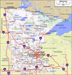 In Mn Minnesota Pet Friendly Road Map By 1click