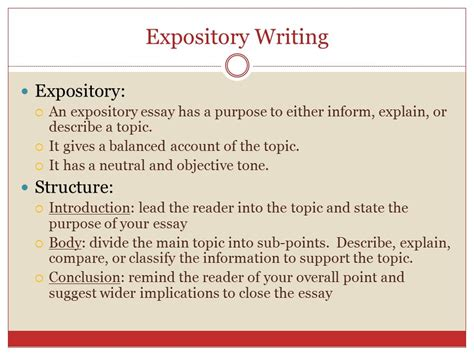 Expository Essay Structure by Argumentative Writing Ppt