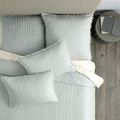 pom pom bedding audree pom pom quilt gray ballard designs