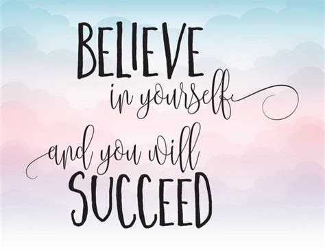 Pdf Throw Like Believe Yourself by Believe In Yourself And You Will Succeed Vector Clipart Svg