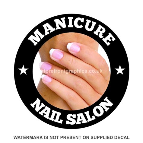 Window Decals For Nail Salon by Manicure Stickers Vinyl Signs For Business Advertising