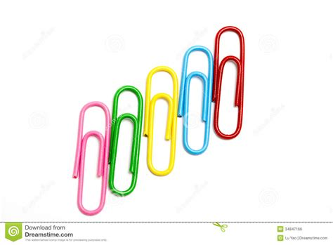 color clip colored paper clip royalty free stock image image 34847166