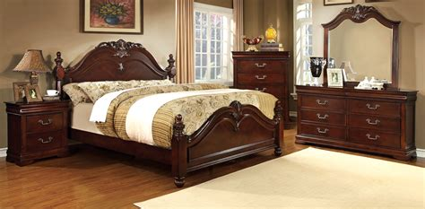 a america bedroom furniture furniture of america cherry gabrielle english poster bed