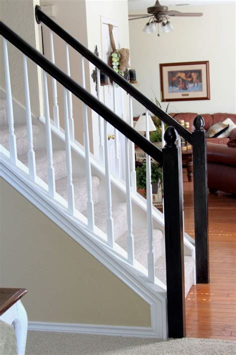 wall banister interior simple white staircase with white railing