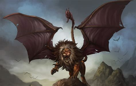 creatures greek mythology the manticore is a creature that reassebles the sphinx as