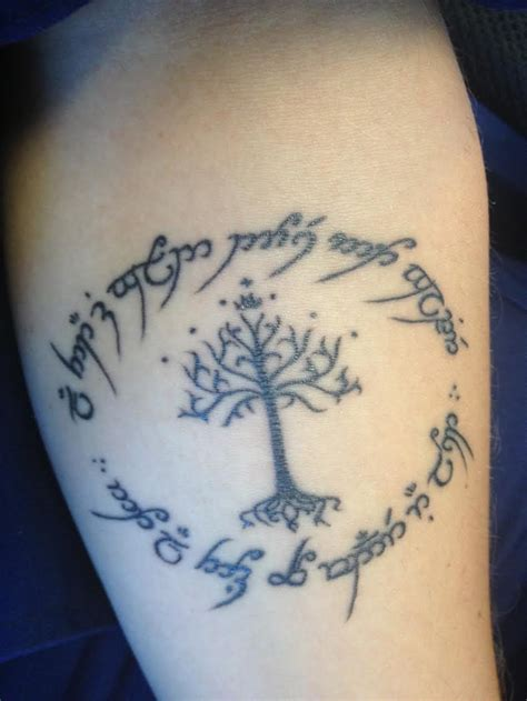 elvish tattoos quotes in lotr elvish quotesgram