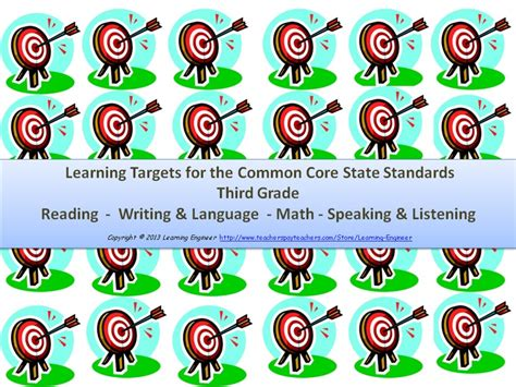 printable common core learning targets 17 best images about for lisa on pinterest free