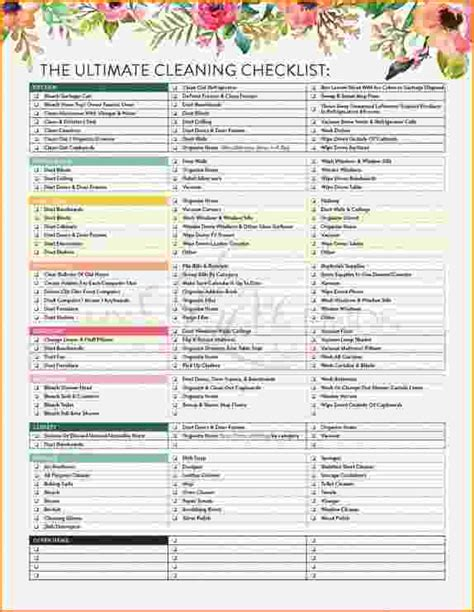 house cleaning checklist template 6 house cleaning checklist bibliography format