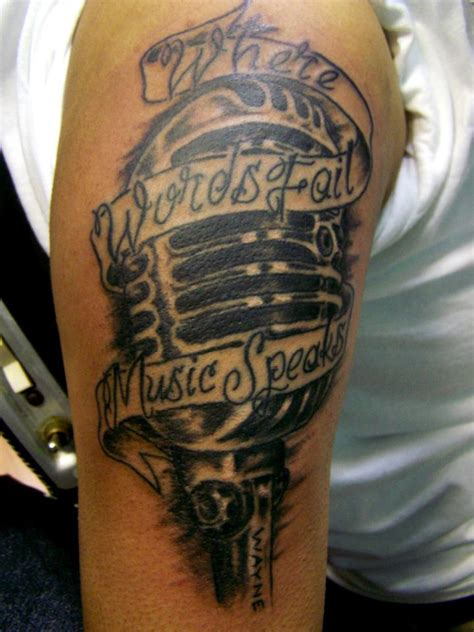 old school microphone tattoo the gallery for gt microphone with notes
