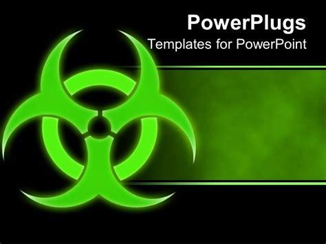 Powerpoint Template Green Hazmat Symbol Bio Hazard Green And Black Background 3513 Biohazard Powerpoint Template Free