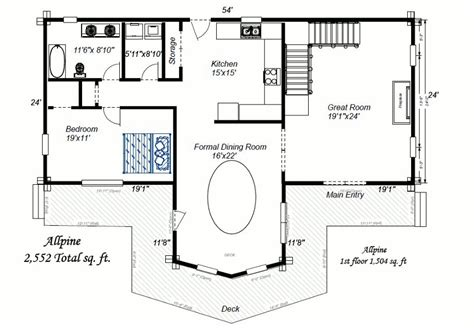 large cabin plans log home floor plans the cheyenne is a beautiful one story