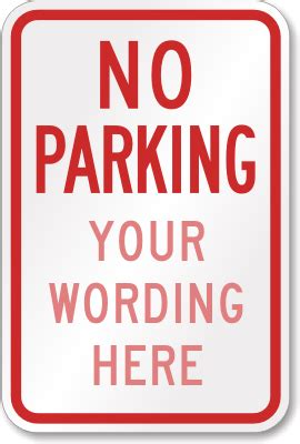 No Parking Signs Myparkingsign No Parking Template Word