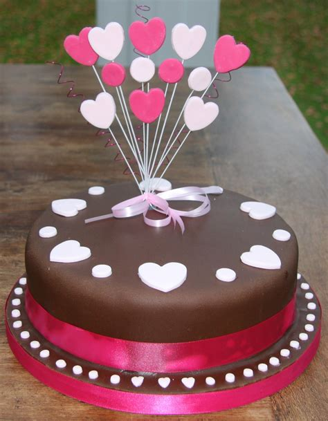 Cake Designs Images by Chocolate Birthday Cake With Hearts Lovinghomemade