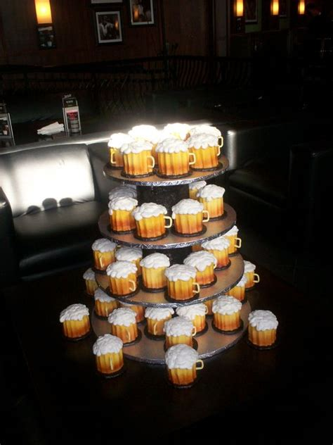 beer cupcakes cupcakes that look like beer mugs our groom s cakes