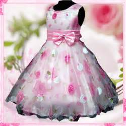 P3211 pinks thanksgiving wedding party flowers girls pageant dresses