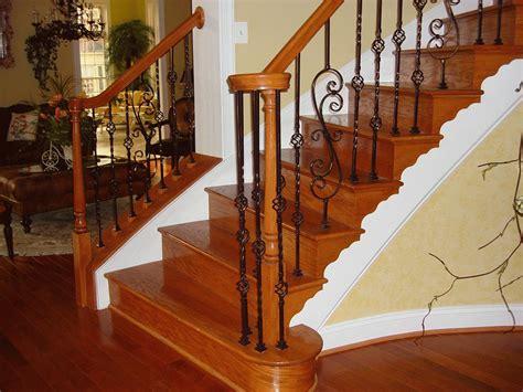 Varnish Stair Handrail Interior Beautiful Varnished Wooden Railing Design