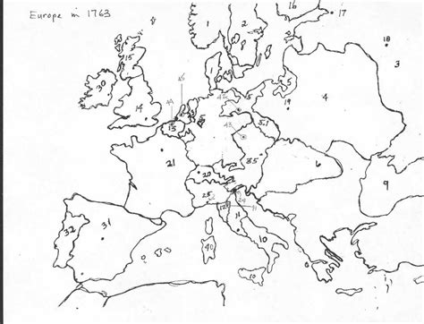 Europe Map Test by Map Quiz I Blank1763