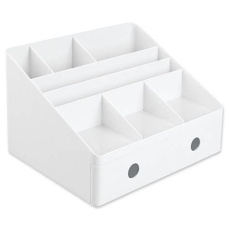 White Desk Organizers Buy Interdesign Linus Desk Organizers With Drawers In White From Bed Bath Beyond
