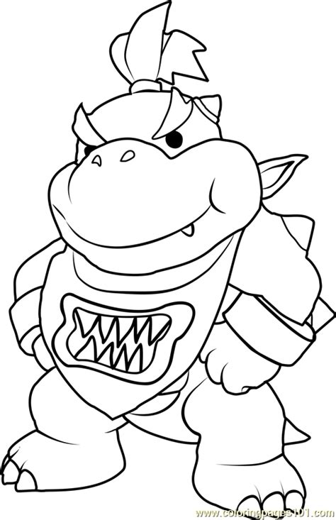 bowser jr coloring page free super mario coloring pages