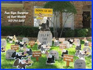 sign of fort worth birthday lawn decorations