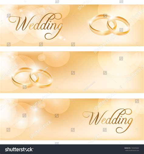 Wedding Banner Pics by Wedding Banner With The Wedding Rings Stock Vector