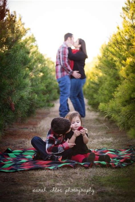 christmas tree farm family photo by sarahchloephotography