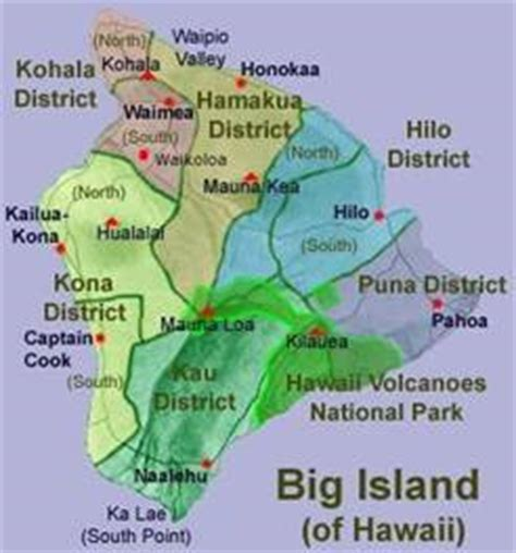 map of big island hawaii kohala vacation aloha vacation cottages