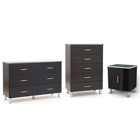 south shore cosmos dresser with chest and nightstand set