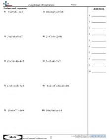 order of operations fractions worksheet order of