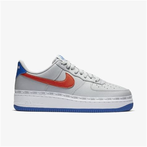 nike air force   overbranded greyhabanero red