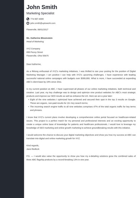 cover letter templates resume