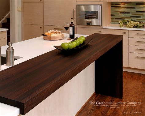 contemporary wenge wood countertop by grothouse